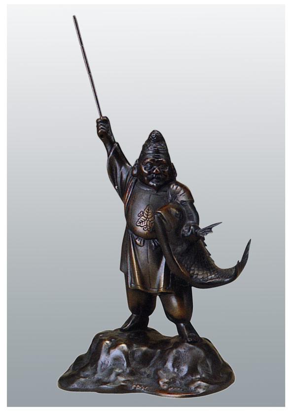 七福神 10号 恵美須 和雑貨 開運 床の間 銅像 香炉 送料無料
