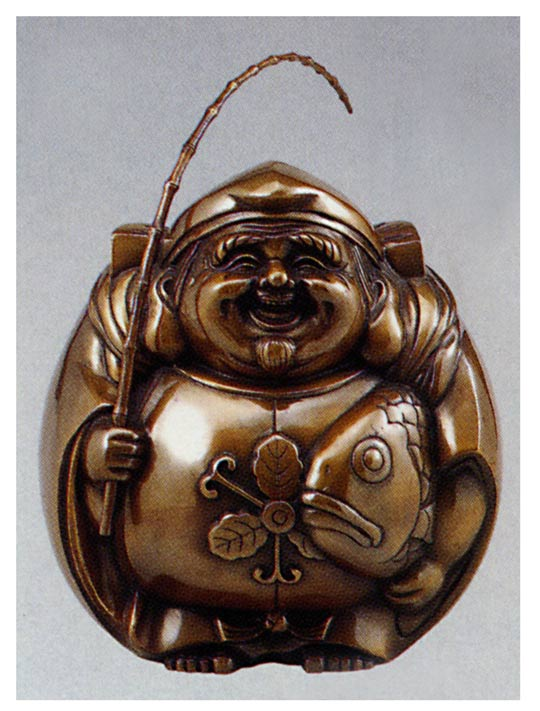 七福神 招福恵美須 大 和雑貨 開運 床の間 銅像 香炉 送料無料
