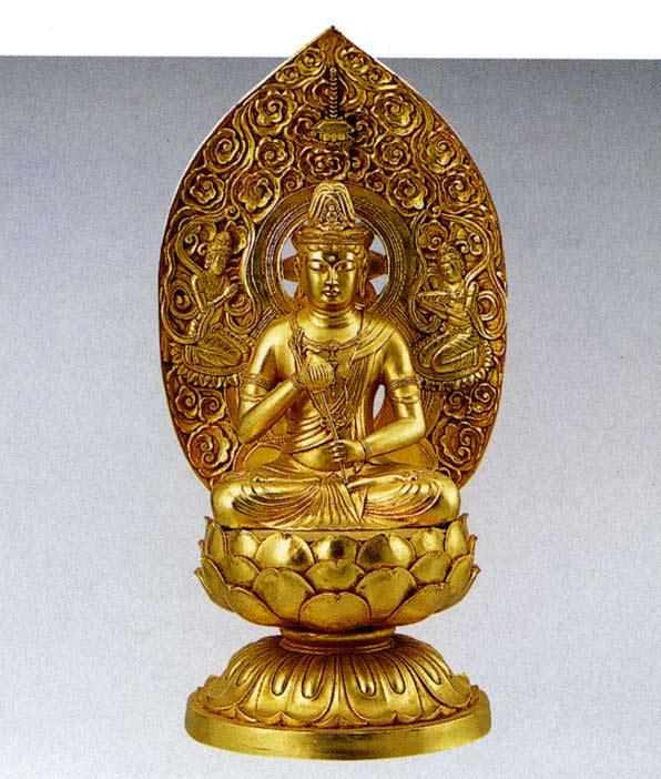十三仏 観世音菩薩 長田晴山 床の間 置物 仏具 仏像 銅像 送料無料