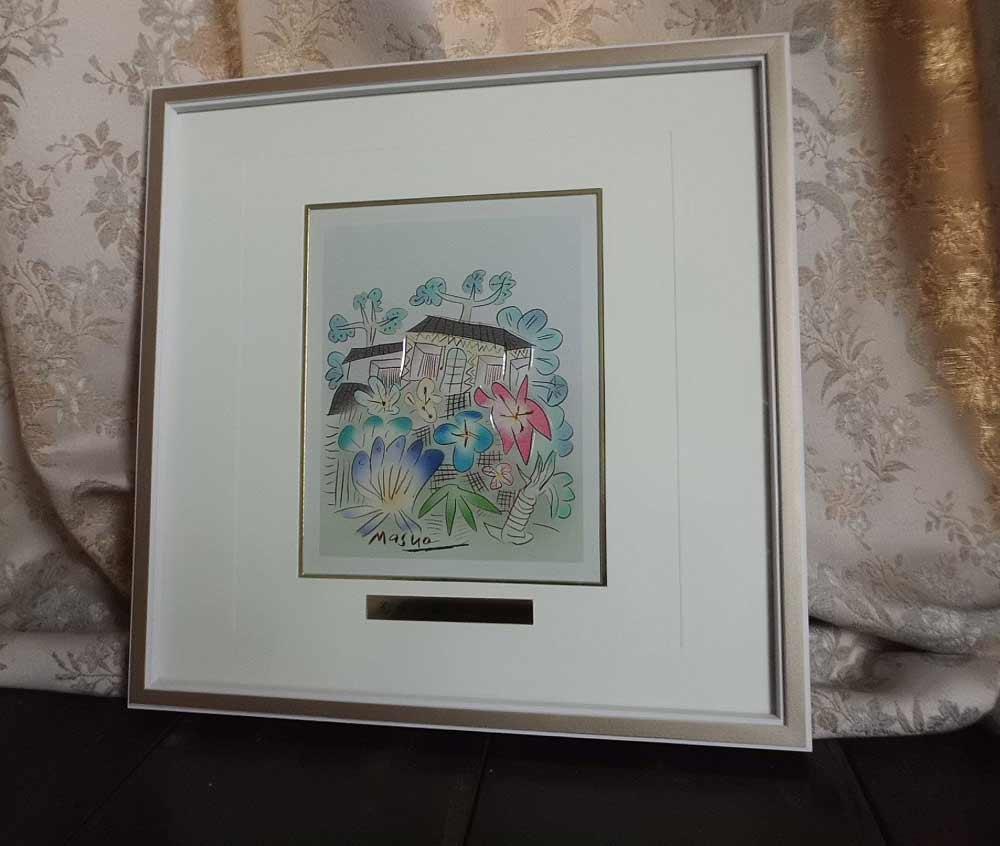 花咲く街 池田 満寿夫 レリーフ 彫刻 絵画 パネル
