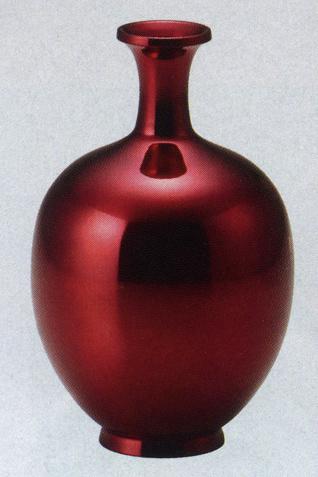 5号 祥鶴 花瓶 花器 床の間 置物 銅製 ブロンズ