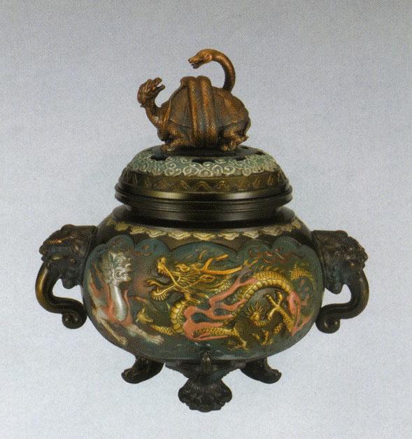 送料無料 香炉 四神獣香炉 彫刻 銅像 雑貨 置物 床の間