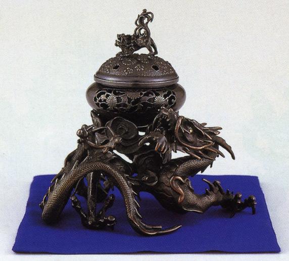 香炉 銅像 雑貨 置物 美術 茶道 送料無料 香炉 吉祥龍香炉 彫刻 銅像 雑貨 置物 床の間