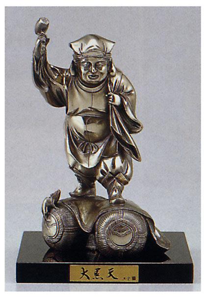 明治の巨匠 高村光雲 作品 大黒天 床の間 銅像 送料無料