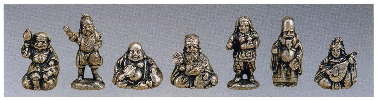 七福神 般若純一郎 和雑貨 開運 床の間 銅像 香炉 送料無料