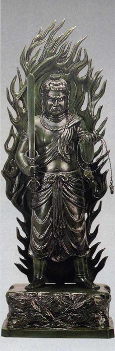 不動明王 60号 般若純一郎 床の間 置物 仏具 仏像 銅像 全国送料無料 【smtb-k】【ky】