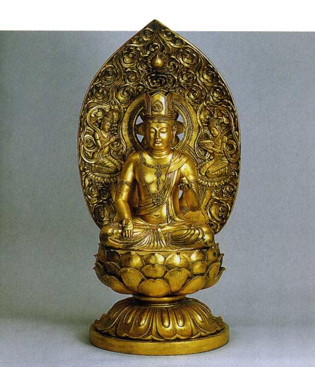 八体仏 虚空蔵菩薩 長田晴山 床の間 置物 仏具 仏像 銅像 送料無料