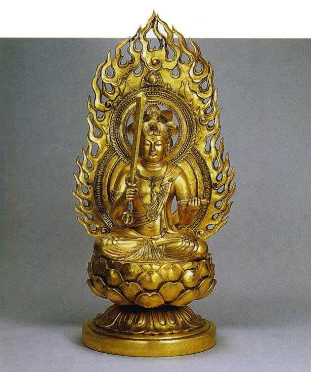 八体仏 文珠菩薩 長田晴山 床の間 置物 仏具 仏像 銅像 送料無料