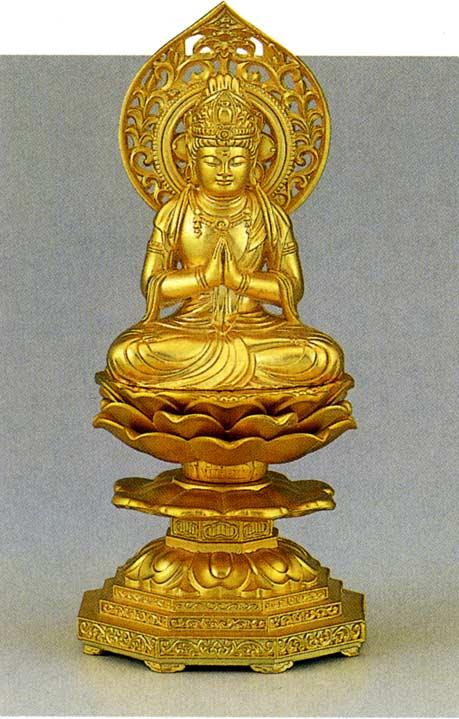 十三仏 勢至菩薩 牧田 秀雲 床の間 置物 仏具 仏像 銅像 送料無料