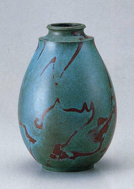 通産大臣指定伝統的工芸品 貴宝形 花瓶 床の間 置物 ブロンズ 送料無料