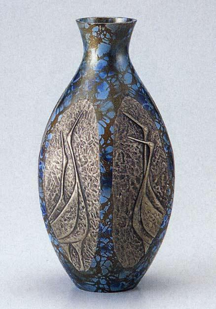 9号 ブロンズ 六角ダルマ鶴地紋 花瓶 花器 置物 床の間 置物 花器 銅製 ブロンズ 送料無料, タオルの森:de4263f7 --- sunward.msk.ru