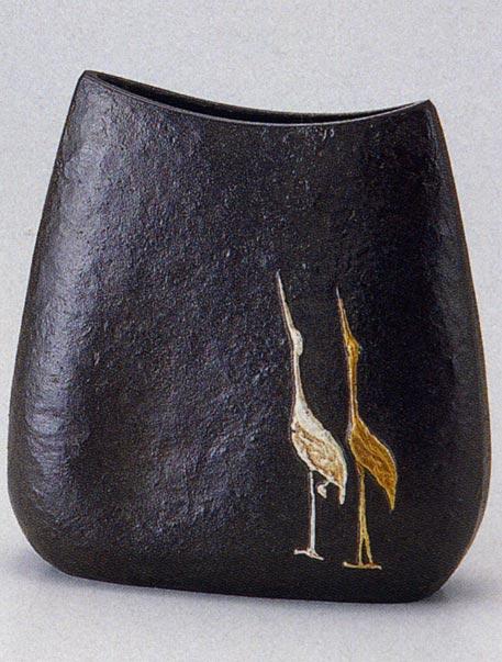 二羽鶴 花瓶 花器 床の間 ブロンズ 置物 床の間 銅製 ブロンズ 銅製 送料無料, 泡盛通販おきなわマート:7365d684 --- sunward.msk.ru