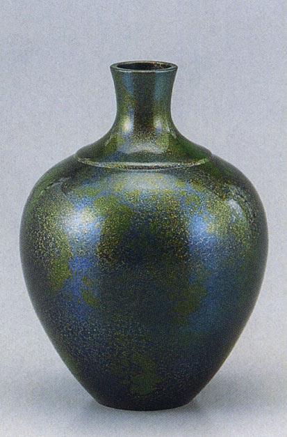 福鶴 花瓶 花器 床の間 置物 銅製 ブロンズ