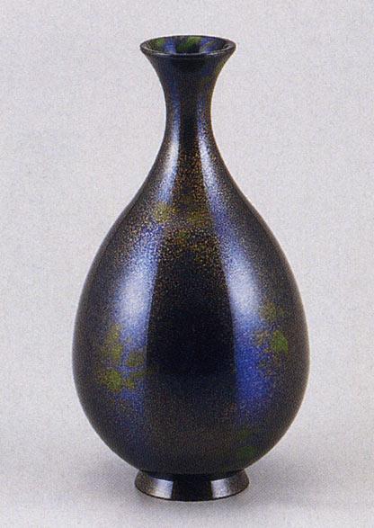 飛翔 花瓶 花器 床の間 置物 銅製 ブロンズ