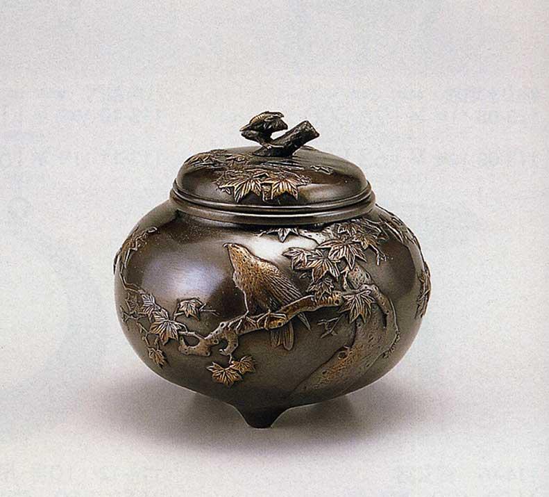 送料無料 香炉 龍田川香炉 床の間 置物 仏具 銅 ブロンズ