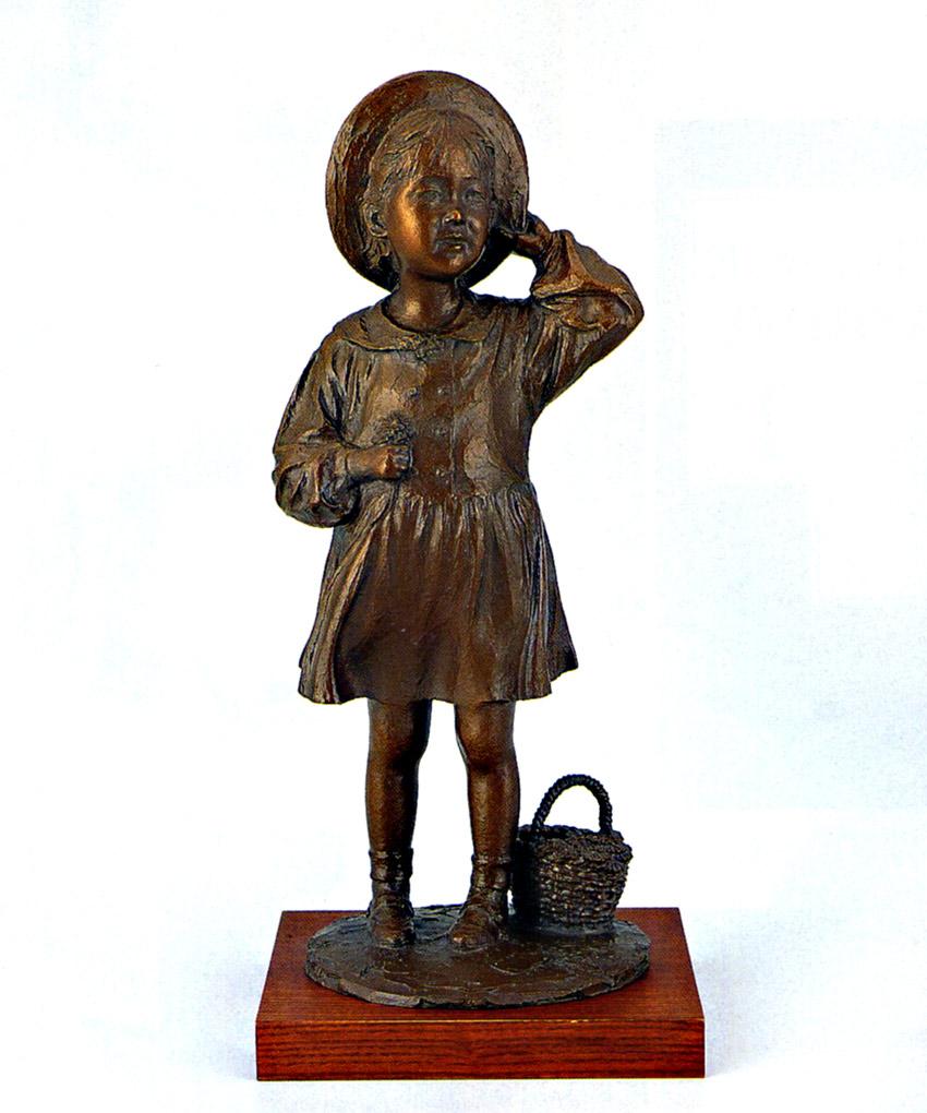 大道寺 光弘 彫刻 銅像 和雑貨 送料無料 送料無料 そよ風に誘われて 彫刻 銅像 和雑貨