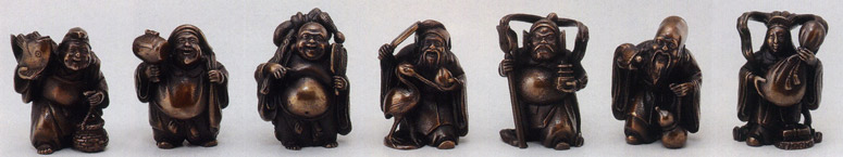彫刻 銅像 雑貨 置物 美術 送料無料 ミニ七福神 彫刻 銅像 雑貨 置物 美術 床の間