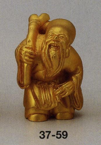 送料無料 吉祥 福禄寿 彫刻 銅像 雑貨 置物 美術 床の間