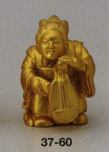 送料無料 吉祥 弁財天 彫刻 銅像 雑貨 置物 美術 床の間