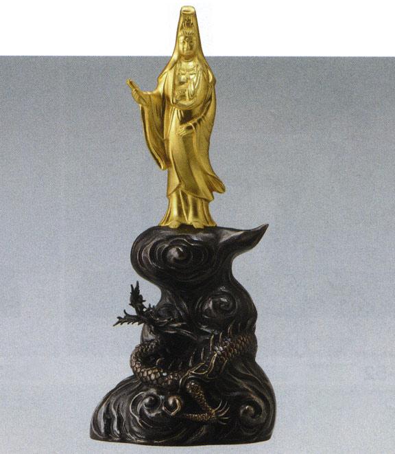 彫刻 銅像 床の間 美術 置物 雑貨 送料無料 龍観音