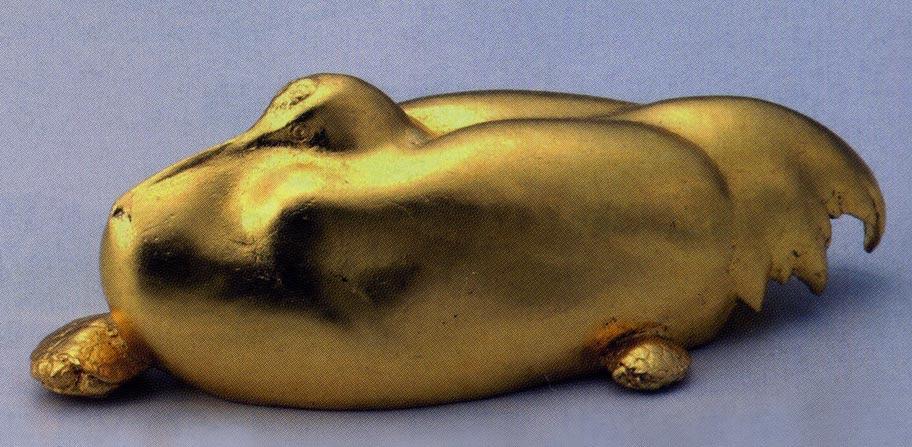 送料無料 長寿 金箔 彫刻 銅像 雑貨 置物 美術 床の間