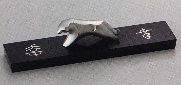 送料無料 象嵌花器 寅 虎 トラ 彫刻 銅像 雑貨 置物 美術 床の間