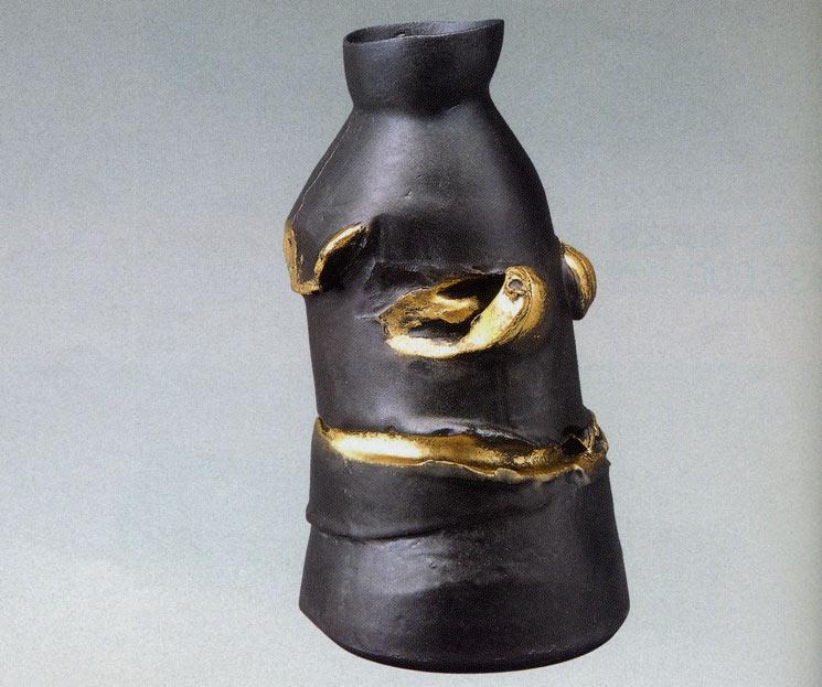 送料無料 池田満寿夫作 黒トルコ 彫刻 銅像 雑貨 置物 美術 床の間