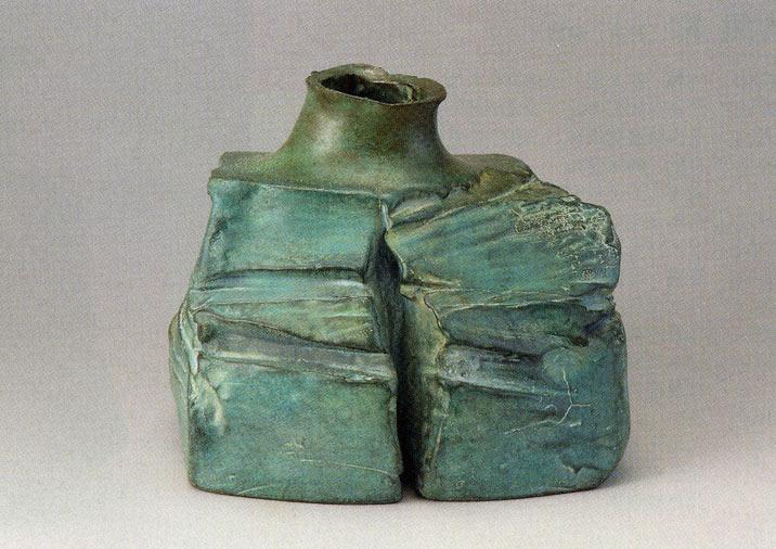 送料無料 池田満寿夫作 三笠 彫刻 銅像 雑貨 置物 美術 床の間