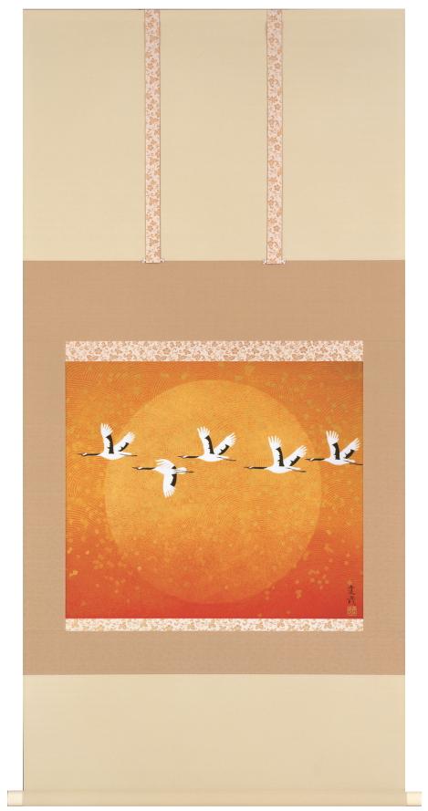送料無料 石踊達哉 翔 彩美版 シルクスクリーン併用 掛け軸 掛軸 ED有り 絵画 版画【smtb-k】【ky】