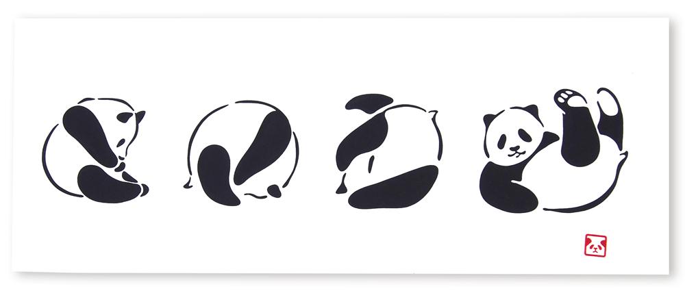 [並行輸入品] 2枚以上お買い上げで5%OFF 手ぬぐい てぬぐい 即納 手拭い でんぐりパンダ 送料無料 kenema