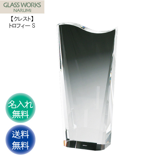 名入れ代込み ナルミ NARUMI 【クレスト トロフィーS 16cm】 GLASS WORKS 名入れ 贈答 記念品 表彰