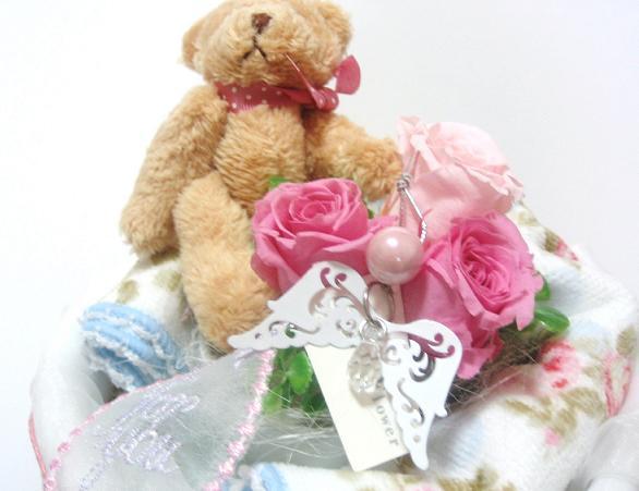 A ki flower je rakuten global market towel and preserved flowers baby gifts flowers flower baby birthday baby sympathy diapers swarovski bear and negle Gallery