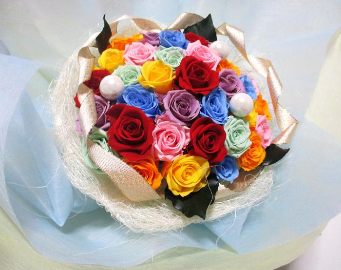 A ki flower je rakuten global market farewell retirement farewell retirement celebrations wedding bouquet preserved flower gift flower secondary times bouquet 7 color rainbow gifts women memorial day gifts negle Images