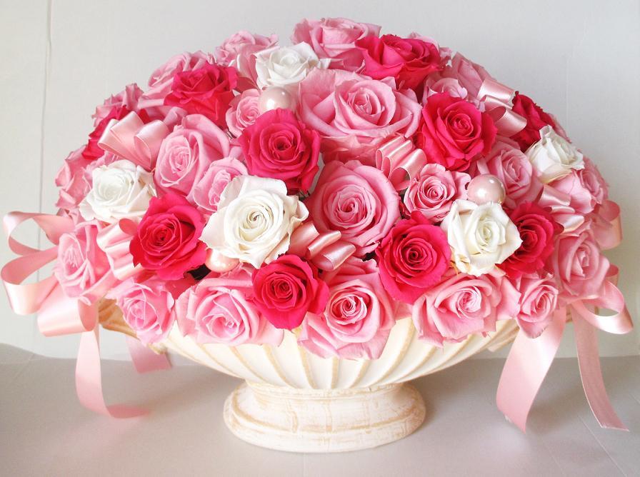プレゼント 開店祝い サロン 開業祝い 花 おしゃれ スタンド花 還暦祝い 母 プリザーブドフラワー 栄転祝い 楽屋花 バラ60本 引っ越し祝い 就任祝い ギフト 誕生日 結婚記念日 花 結婚祝い 誕生日プレゼント 女性