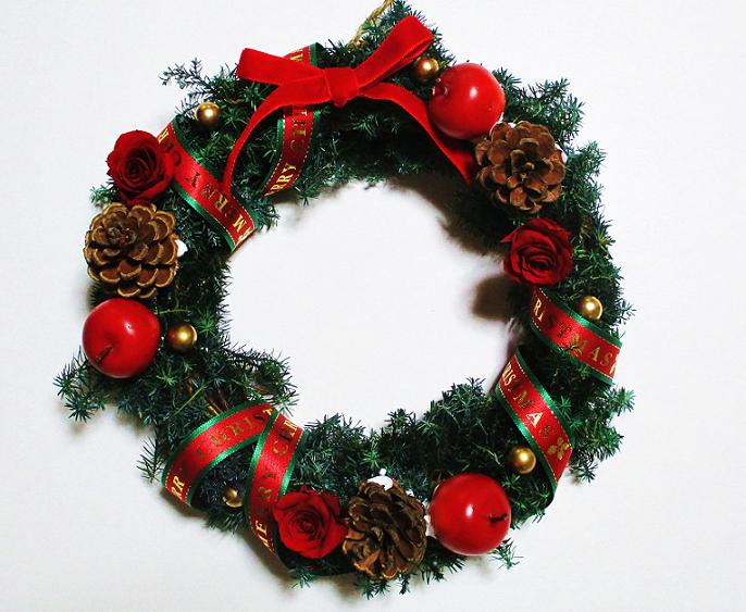 A-ki Flower Je: Preserved flower / Christmas Wreath /Xmas lease ...
