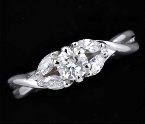 『1年保証』 Pt ダイヤモンド 0.300ct G-SI1 Fairダイヤモンド0.22ct プラチナ リング《送料無料!》, 神泉村 fedee7ca