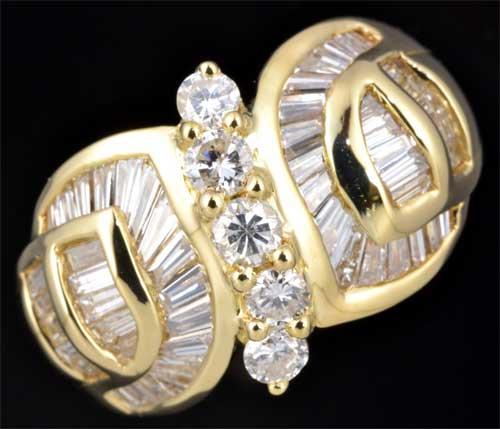 K18 ダイヤモンド 1.56ct 18金 リング《送料無料!》