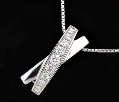 K18WG ダイヤモンド 0.45ctホワイトゴールド ブローチペンダントネックレス《送料無料!》