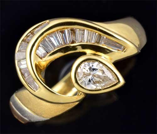 K/P ダイヤモンド 0.50ct 18金 プラチナ リング《送料無料!》