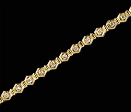 K18 ダイヤモンド 1.00ct 18金 ブレスレット《送料無料!》