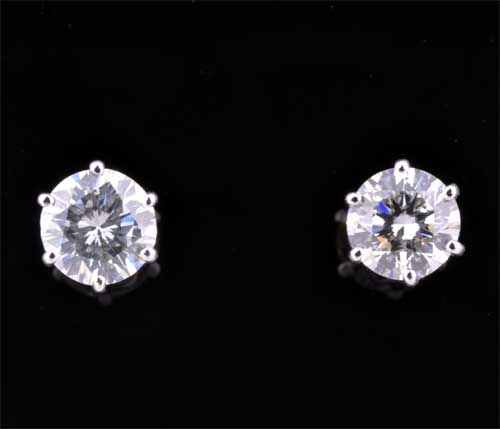 K18WG ダイヤモンド 0.233ctダイヤ0.247ct ホワイトゴールド ピアス《送料無料!》