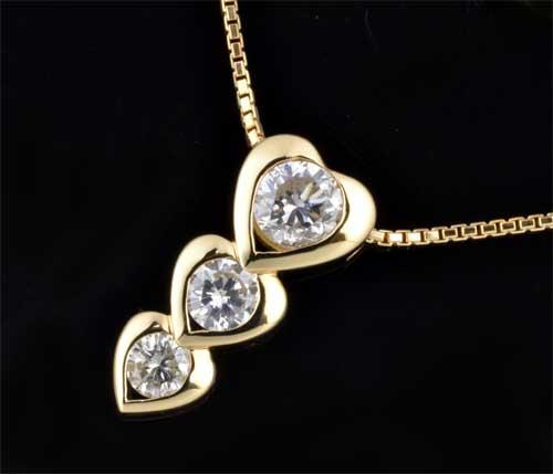 K18 ダイヤモンド 1.11ct18金 ペンダントネックレス《送料無料!》