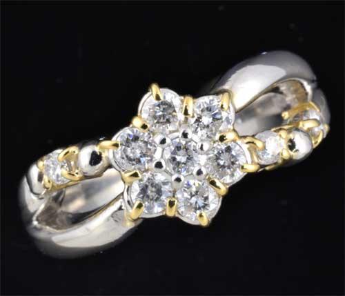 P/K ダイヤモンド 0.39ct プラチナ 18金 リング《送料無料!》
