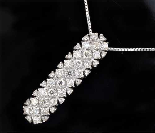K18WG ダイヤモンド 1.00ctホワイトゴールド ペンダントネックレス《送料無料!》