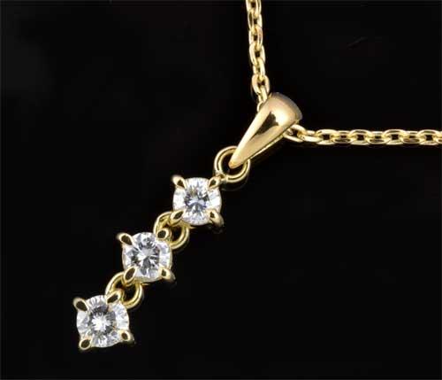 K18 ダイヤモンド 0.609ct18金 ペンダントネックレス《送料無料!》