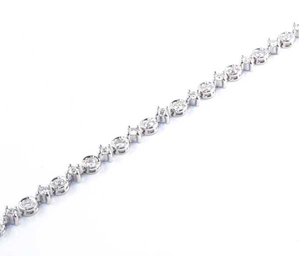 K18WG ダイヤモンド 1.50ct ホワイトゴールド ブレスレット《送料無料!》