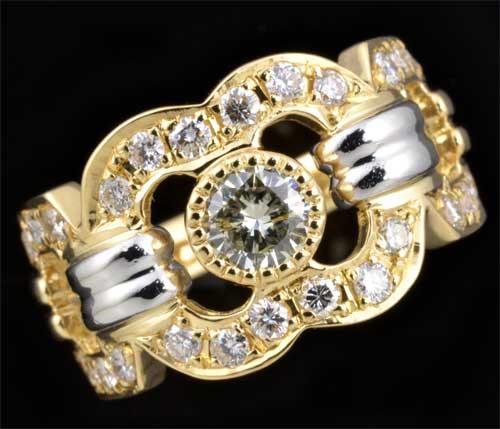 K/P ダイヤモンド 0.30ctダイヤモンド0.48ct 18金 プラチナ リング《送料無料!》
