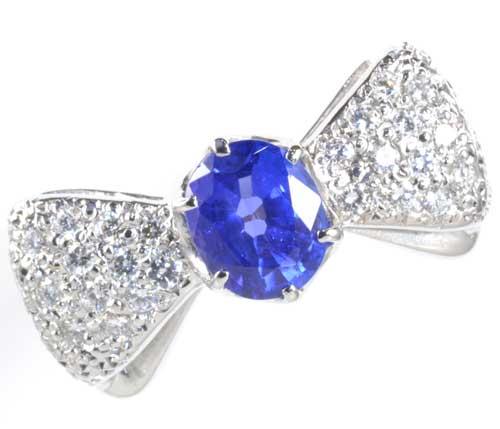 K/P タンザナイト 1.05ctダイヤモンド0.60ct 18金 プラチナ リング《送料無料!》