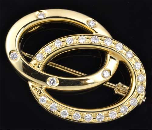 K18 ダイヤモンド 0.50ct18金 ペンダントブローチ《送料無料!》