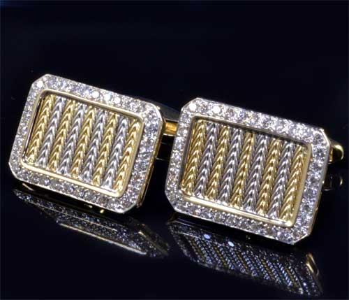 K18 ダイヤモンド 1.51ct 18金 カフスボタン《送料無料!》